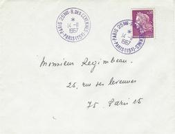 """1967- Enveloppe Affr. 30 C  Oblit.  """" PARIS 25 Bis-R.des.cevennes - PARIS ( 15 è )  """" - Storia Postale"""