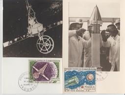 Cameroun 1967 Carte Maximum PA 95-96-97 Conquete De L'Espace - Cameroon (1960-...)