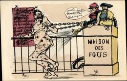 Artiste Cp Martini, Veux Tu Rester Tranquille Charogne, Kaiser Wilhelm II., Irrenanstalt, Karikatur - Otros