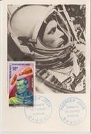 Centrafrique 1966 Carte Maximum PA 43 Cosmonaute - Centrafricaine (République)