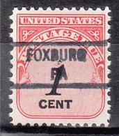 USA Precancel Vorausentwertung Preo, Locals Pennsylvania, Foxburg 841 - Vereinigte Staaten