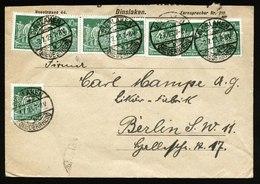 A5381) DR Infla Brief Dinslaken 2.7.23 N. Berlin M. MeF Mi.244 - Deutschland