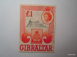 GIBRALTAR 1960, Queen Elizabeth II, £1, 'The Gibraltar Regiment'. SG173. Fine Used. - Gibraltar