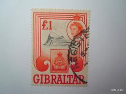 GIBRALTAR 1960, Queen Elizabeth II, £1, 'The Gibraltar Regiment'. SG173. Used. - Gibraltar