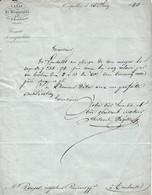 1840 - Montpellier - CANAL De BEAUCAIRE Et Ses Embranchements à M. ROUGES Inspecteur De La Barque De Poste - Documenti Storici