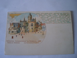 Bruxelles // Litho No 12 Exposition 1897  Kermesse  // Ca 1899 - Wereldtentoonstellingen