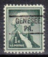 USA Precancel Vorausentwertung Preo, Locals Pennsylvania, Genesee 802 - Vereinigte Staaten