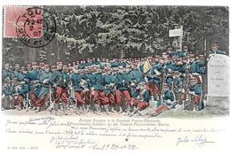 Militaria Soldats Français à La Frontière Franco Allemande Posté De TOUL - Uniformes