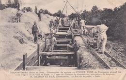 CONFLANS-SAINT-HONORINE - CHENNEVIERES - Construction Du Syphon En Ciment Armé -Travaux Publics - H. CHASSIN Et FILS - Conflans Saint Honorine