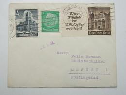 1941 , WHW Zusammendruck Auf Brief Aus Halle - Zusammendrucke