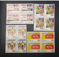 SENEGAL 2000 2004 Michel Mi 2046/9 2049 - UCI Block 4 Bloc De 4 Union Cycliste Internationale Cycling -ULTRA RARE - MNH - Ciclismo