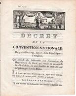 1793 - INONDATIONS - Indemnités Aux VOLONTAIRES Du GARD Qui Ont été Au SECOURS De La Ville D'ARLES - - Documenti Storici