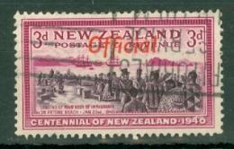 New Zealand: 1940   Centennial - Official OVPT   SG O146   3d    Used - Officials