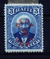 A5385) Haiti 2 Cent A. 3 Cent */(*) Falz/o.G. - Haiti