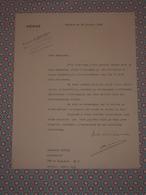 SENAT 1940 - Autographe - Lettre Signée Auguste ALBERTINI (Ajaccio 1890 - Béziers 1967) Sénateur Hérault Maire Béziers - Autographes