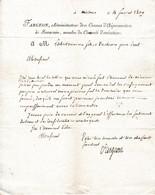 1809 - NISMES - L.A.S. FARGEON, Administrateur Des CANAUX D'AIGUES MORTES à BEAUCAIRE - Documenti Storici