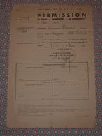 Mars 1940 Permission De Détente à Un Lieutenant Du 364e RALP - Signée Colonel Philippat - Militaria WW2 - Documenti Storici