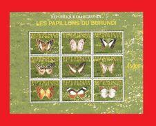 BURUNDI 2008 - BUTTERFLIES PAPILLONS BUTTERFLY PAPILLON - RARE- S/S MNH - Schmetterlinge