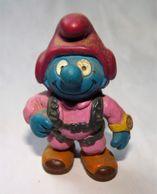 Figurine Schtroumpf Schleich GERMANY PEYO PARACHUTISTE 2000 / 5.3 Cm - Smurfs