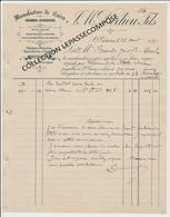 SAINT GIRONS - FACTURE MANUFACTURE DE CUIRS TANNERIE ARIEGEOISE DEDIEU FILS - 1897 - Textile & Vestimentaire