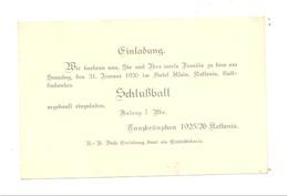 KETTENIS - Einladung / Invitation Pour Le Bal De Fin D'année 1925 à L' Hôtel Klein  (nod) - Partecipazioni