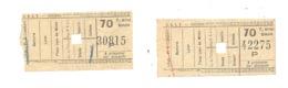 LIEGE - Lot De 2 Tickets De Tram +/- 1925 - SNCV - Chemins De Fer Vicinaux   (nod) - Biglietti D'ingresso