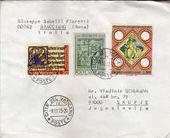 Vatican/Vaticane  Bracciano Marcophilia 1973 Letter Via Macedonia - Nice Stamps - Vaticano
