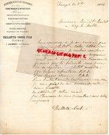 71- JUSSEY - RARE LETTRE MANUSCRITE SIGNEE PAILLOTTE COSTE FILS- MATERIAUX CONSTRUCTION- PLATRIER- 1882 - France