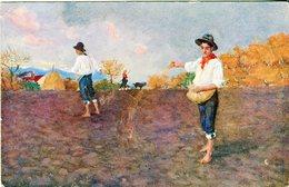 Cartolina Augurale Per Le Case Del Pane Sotto L'alto Patronato Di S.M. La Regina Madre - Lot. 1899 - Landwirtschaft