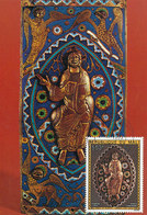 D33301 CARTE MAXIMUM CARD FD 1975 REP. MALI - CHRIST DE MAJESTÉ GOLD AND EMAILLE CP ORIGINAL - Other