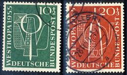 RFT-BRD 1955  UN Serie N. 93-94 Usato Cat. € 20 - Gebraucht