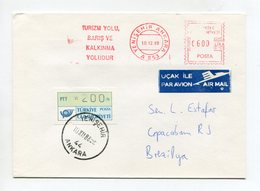 TURKEY ATM COVER 1988 ANKARA TO BRAZIL - 1921-... República