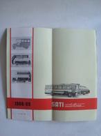 SATI AUTOLINEE. ORARIO TIME TABLE HORAIRE FAHRPLAN - ITALY, ITALIA, 1968/69. - Transportation Tickets
