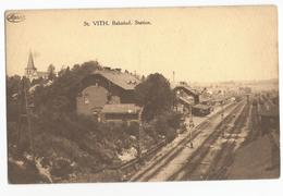 Sankt Vith Bahnhof St Vith Station CPA Gare Rails - Saint-Vith - Sankt Vith