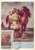 D33306 CARTE MAXIMUM CARD 1967 RAS AL KHAIMA - HORSE SADDLING BY DELACROIX CP PHOTOCARD - Künste