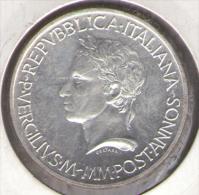ITALIA 500 LIRE 1981 VERGILIUS AG SILVER - Commemorative