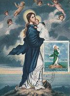 D33308 CARTE MAXIMUM CARD 1967 SAN MARINO - NOSTRA SENORA DI EUROPA CP ORIGINAL - Religious