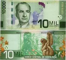 COSTA RICA       10,000 Colones       P-277       2.9.2009        UNC  [ 10000 ] - Costa Rica