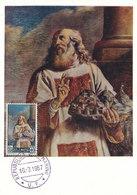 D33310 CARTE MAXIMUM CARD 1967 SAN MARINO - THE SAINT BY GUERCINO CP ORIGINAL - Religious