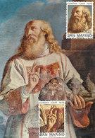 D33311 CARTE MAXIMUM CARD TRIPLE 1975 SAN MARINO - THE SAINT BY GUERCINO EUROPA CEPT CP ORIGINAL - Europa-CEPT