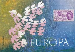 D33312 CARTE MAXIMUM CARD 1961 GREAT BRITAIN - EUROPA CEPT CP ORIGINAL - Europa-CEPT