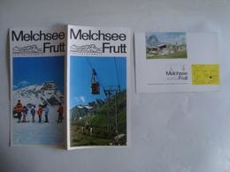 MELCHSEE FRUTT. ZENTRALSCHWEIZ - SWITZERLAND, SCHWEIZ, OBWALDEN, KERNS, 1968 APROX. - Toeristische Brochures