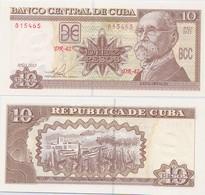 CUBA       10 Pesos       P-117[q]       2015       UNC - Cuba