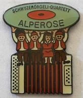 ACCORDEON - ALPEROSE - SCHWYZERRÖRGELI - QUARTETT - SWISS - SCHWEIZ - SUISSE -                (ROSE) - Music