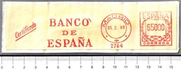 Franqueo Mecanico BANCO DE ESPAÑA - BANK OF SPAIN. Madrid 1988 - Sellos