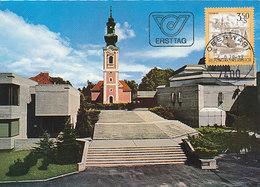 D33315 CARTE MAXIMUM CARD FD 1978 AUSTRIA - ROMAN CHURCH OBERWART CP ORIGINAL - Churches & Cathedrals