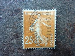 20/03/1930 Fourmies Semeuse 25 C Jaune Brun Y&T= 235  Oblitéré Parfait état - 1906-38 Sower - Cameo