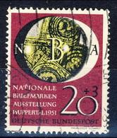 RFT-BRD 1951  UN Serie N. 28 Usato Cat. € 50 - Gebraucht