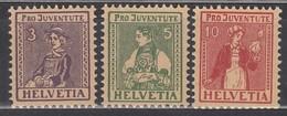 SCHWEIZ  133-135, Postfrisch *,  Pro Juventute 1917 - Pro Juventute