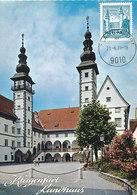 D33317 CARTE MAXIMUM CARD 1971 AUSTRIA - LANDHAUS KLAGENFURT CP ORIGINAL - Architecture